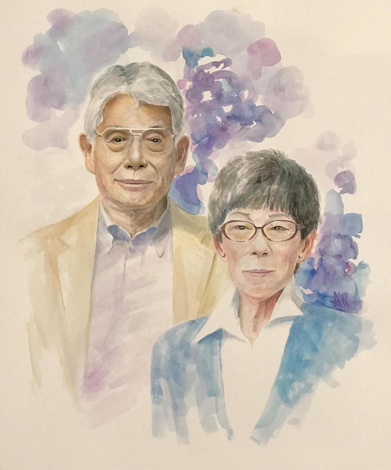 家族の肖像画(A3・2人)