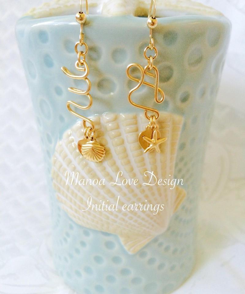 Manoa Love Design/ イニシャルピアス ($98)