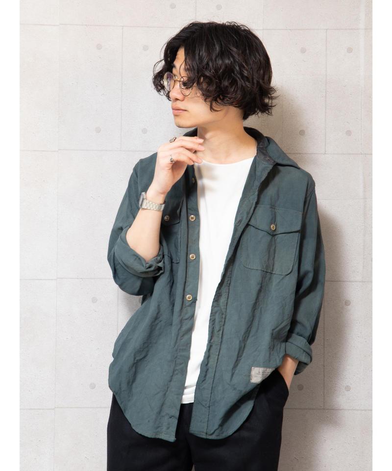 【リメイク】オーバーダイミリタリーシャツ