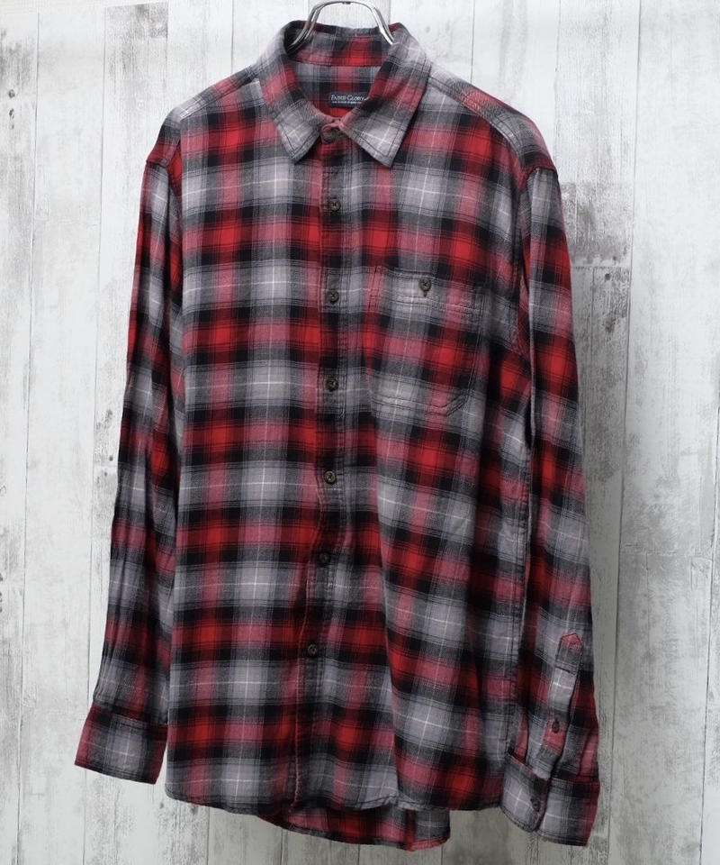 コットンネルシャツ