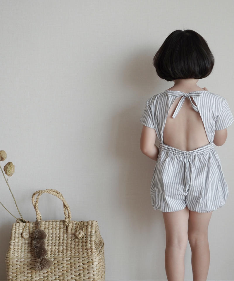 Stripe jumpsuit (grey)