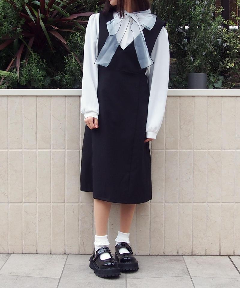 バックゴムジャンパースカート