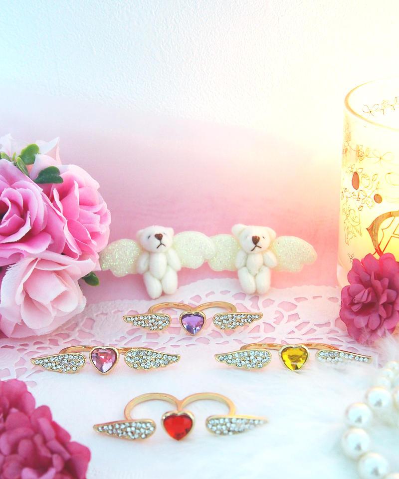 天使リング(レッド、ピンク、イエロー、パープル)