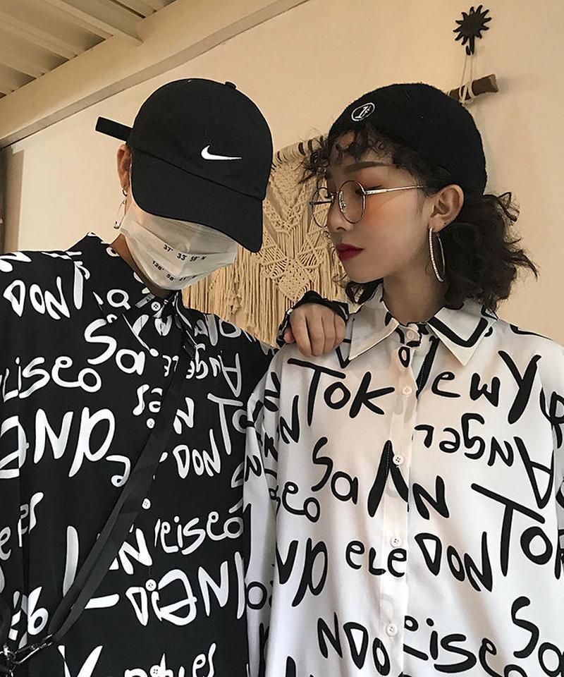 レタリングシャツ