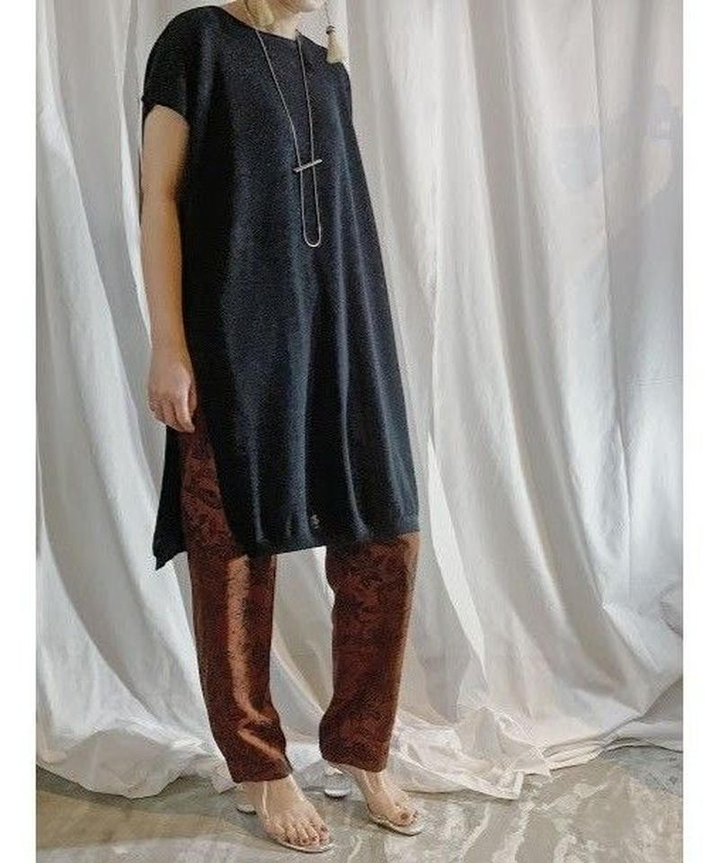 linen knit dress  (black)