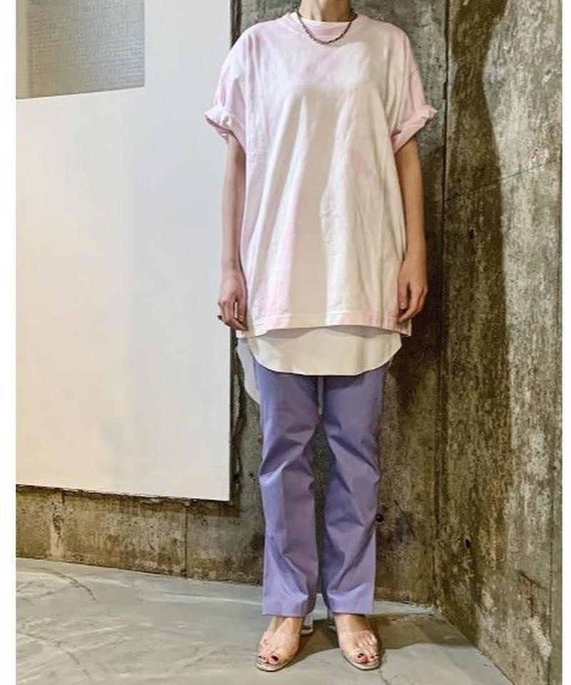 tie-dye  big Tee   (pink)