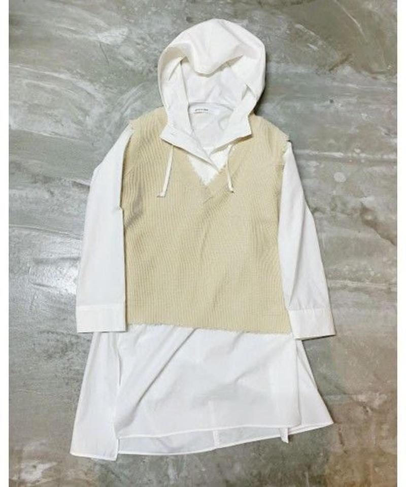 hoodie tunic (off white)
