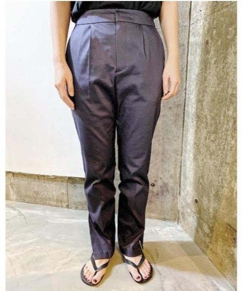 slit bootscut pants  (navy)