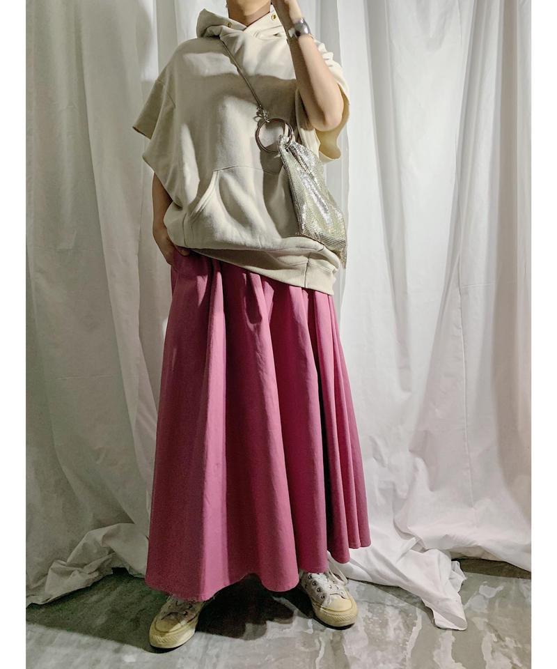 irregular hem skirt(pink)