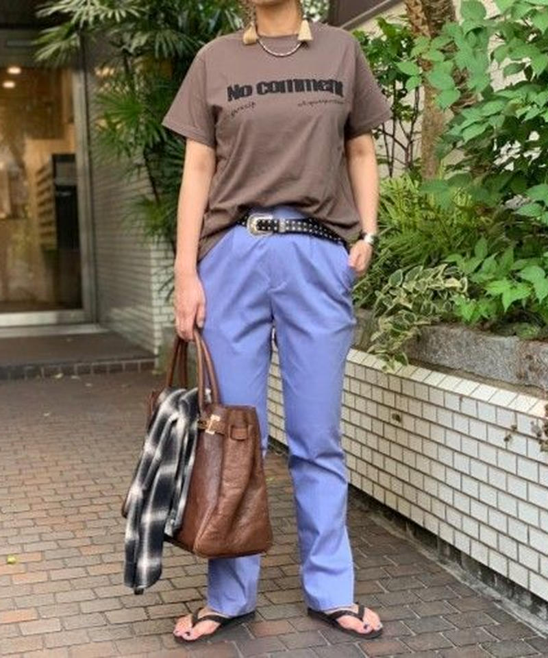 【 pre fall 】logo T-shirts ( brown )