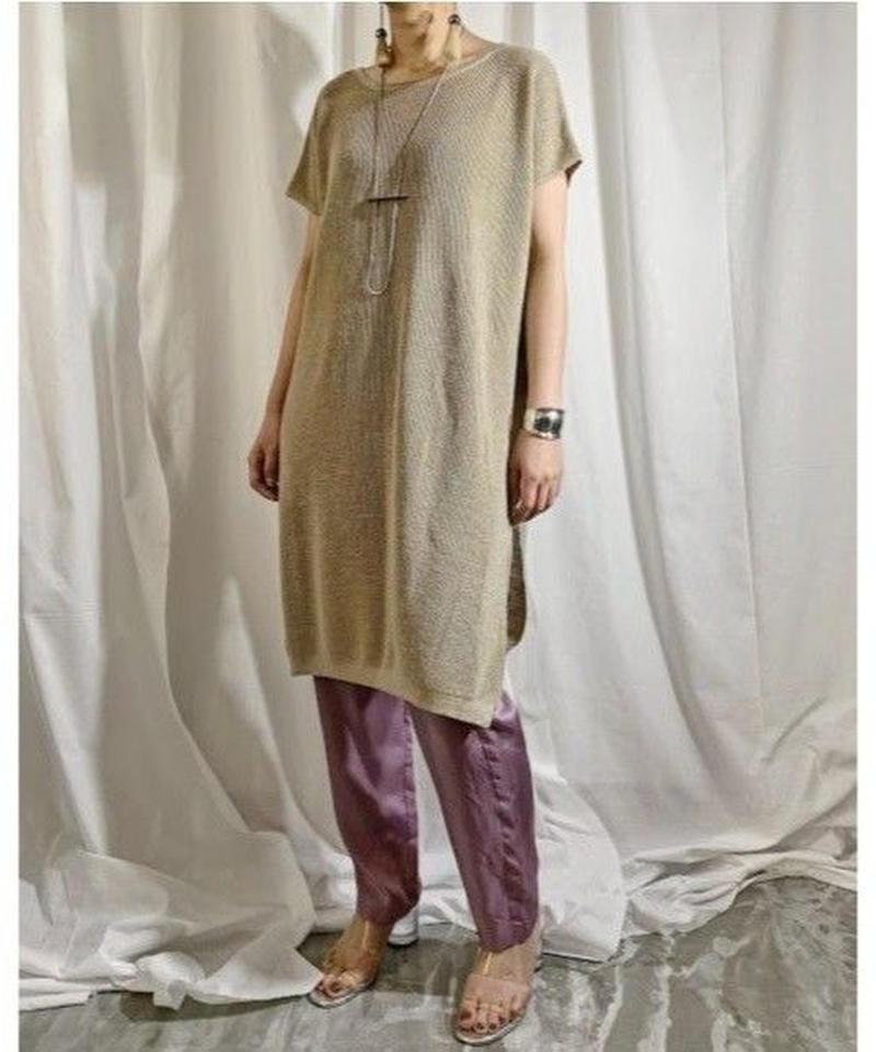 linen knit dress  (sand beige)