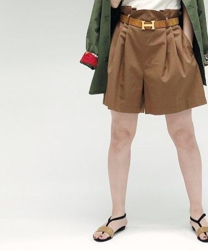 tuck short pants(brown)