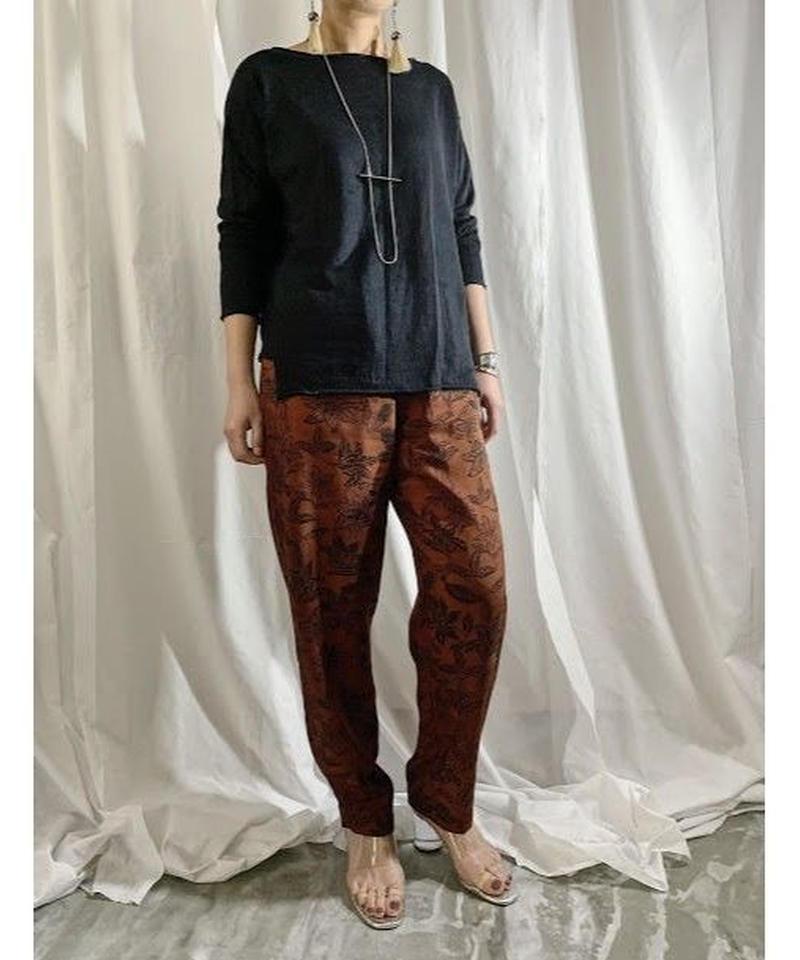 linen knit pullover   (black)