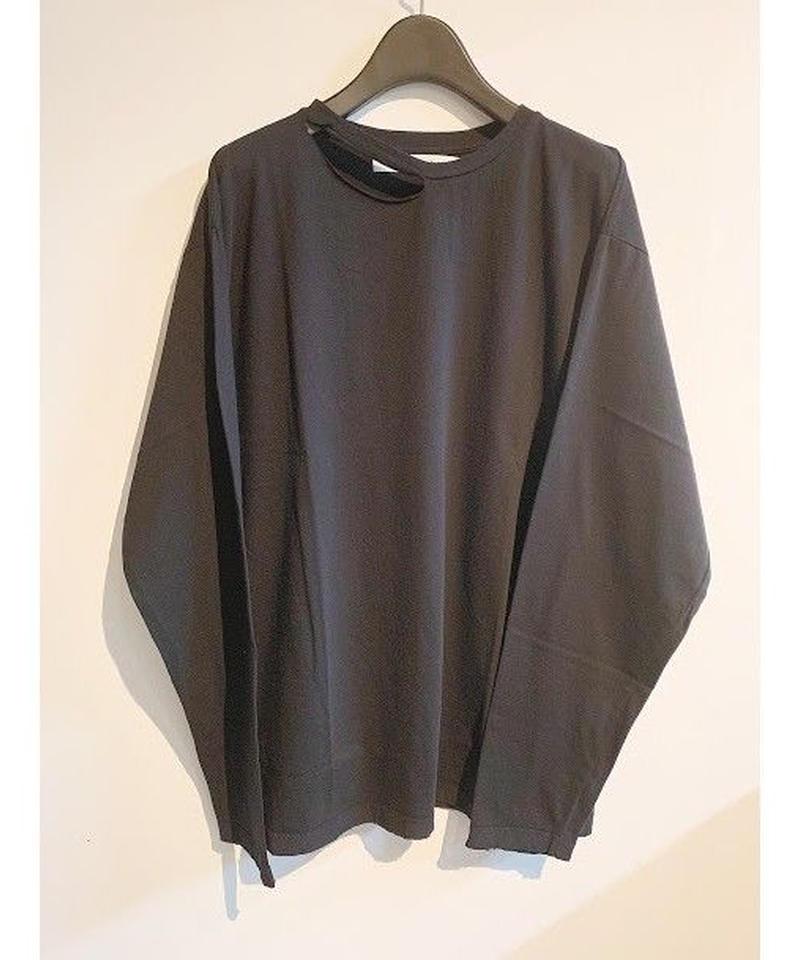 damage long T-shirts(black)