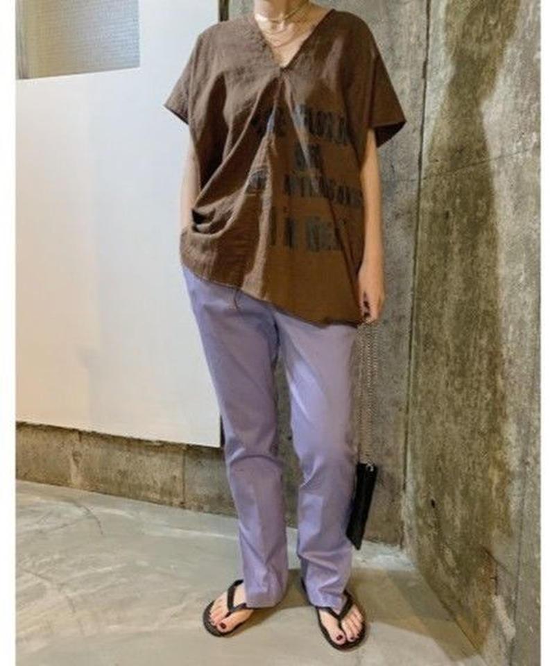 slit bootscut pants   (lavender)