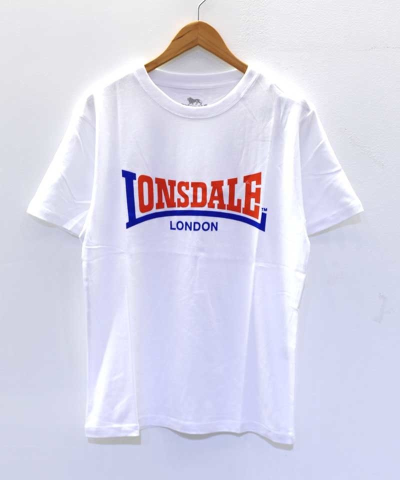 LONSDALE FLOCKY PRINT TEE(00 WHITE)