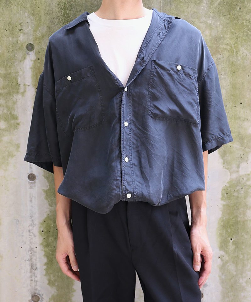 [USED] SILK SHIRT (BLACK 3)