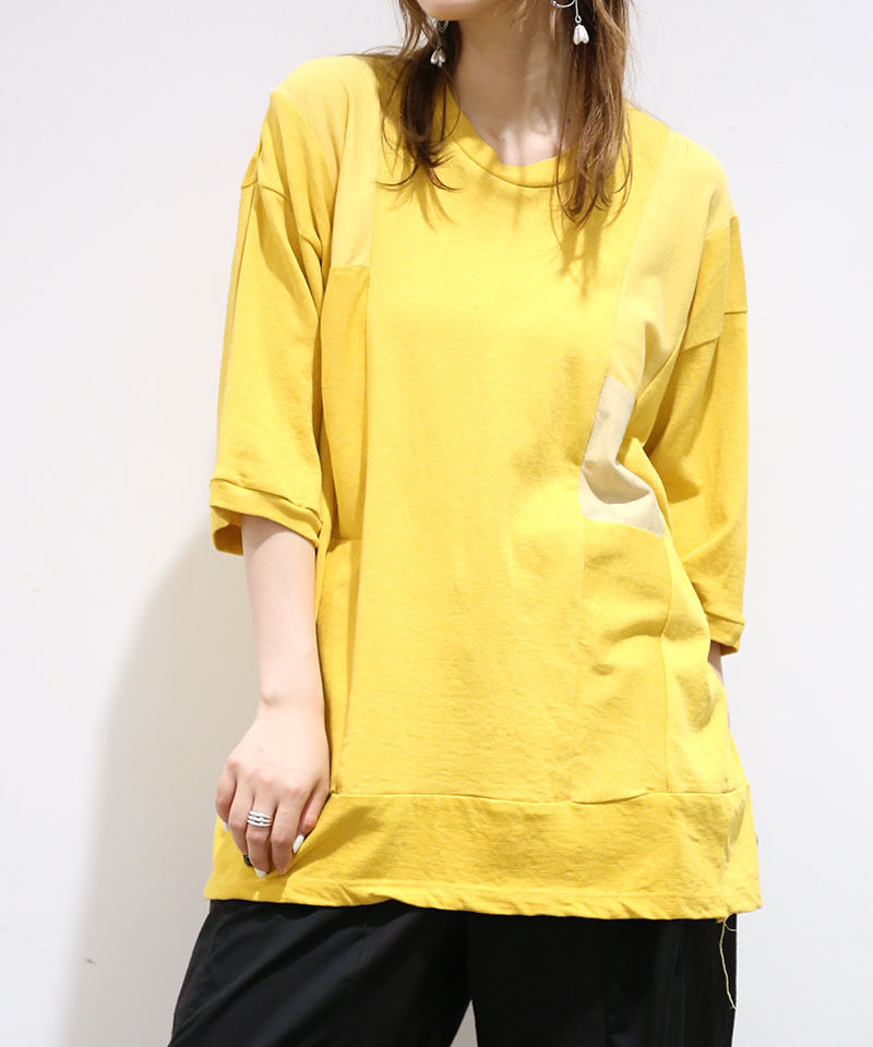 [REMAKE] HALF SLEEVE T-SHIRT (YELLOW)