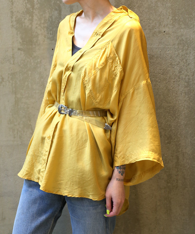 [USED] SILK SHIRT (YELLOW 2)