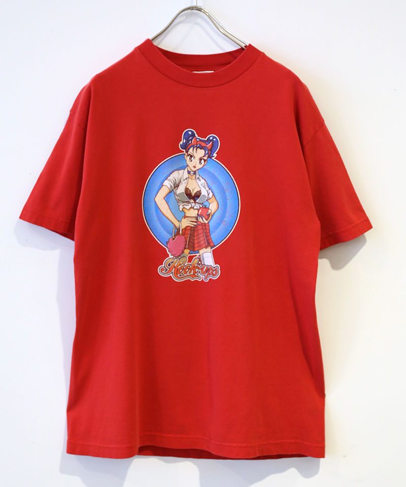 [USED] S/S T-SHIRT HOOK UPS (RED)