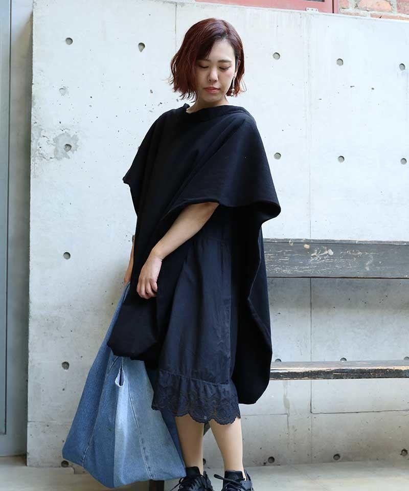 [MEND]  黒染め PONCHO