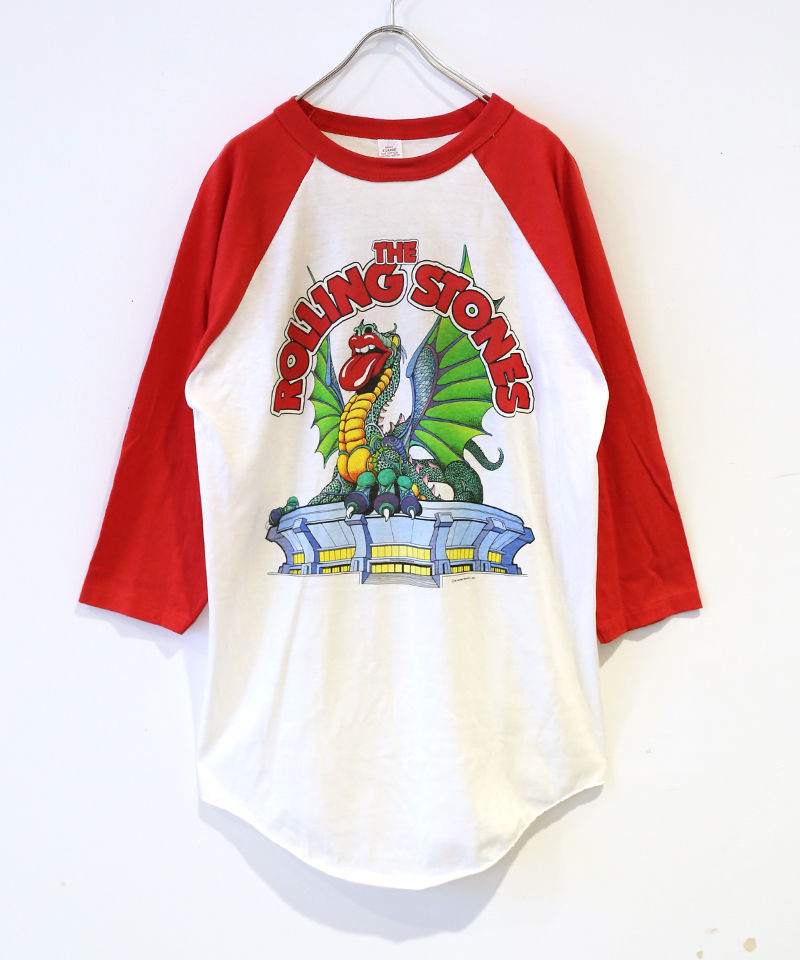 [USED] RAGLAN T-SHIRT ROLLING STONES (WHITE/RED)