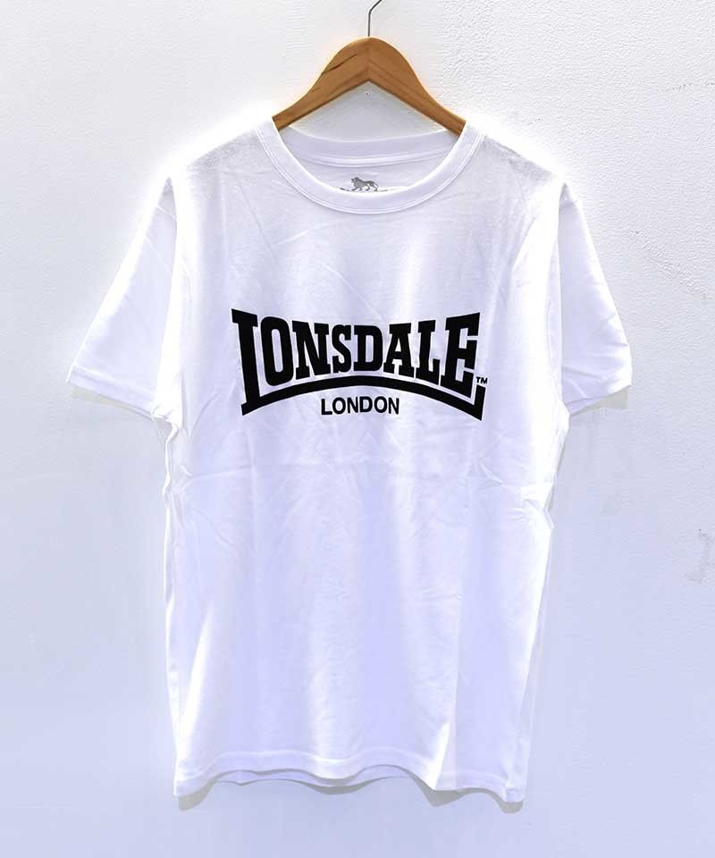 LONSDALE FLOCKY PRINT TEE(01 OFFWHITE)