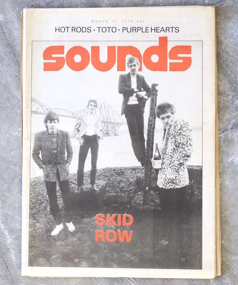 sounds magazine(march/10/1979:表紙 SKID ROW)