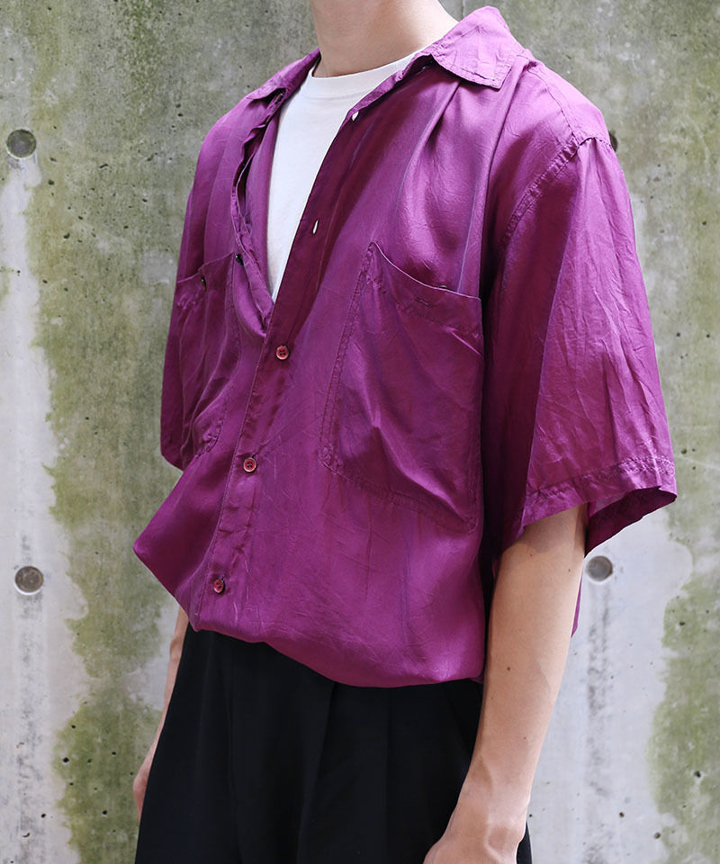 [USED] SILK SHIRT (PURPLE 2)