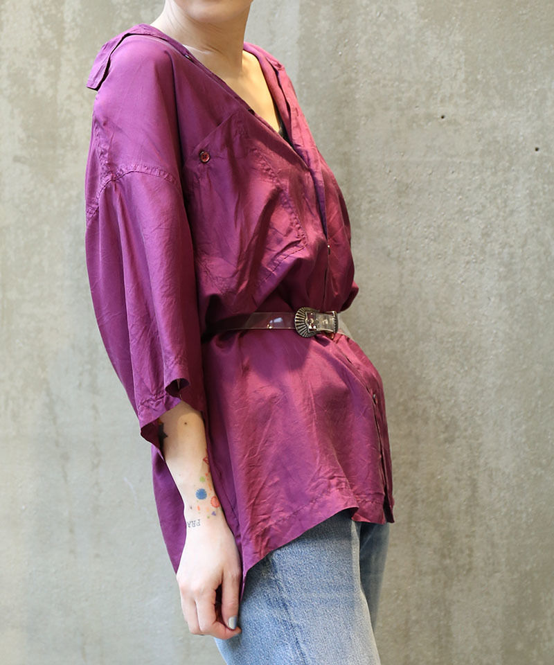 [USED] SILK SHIRT (PURPLE 1)