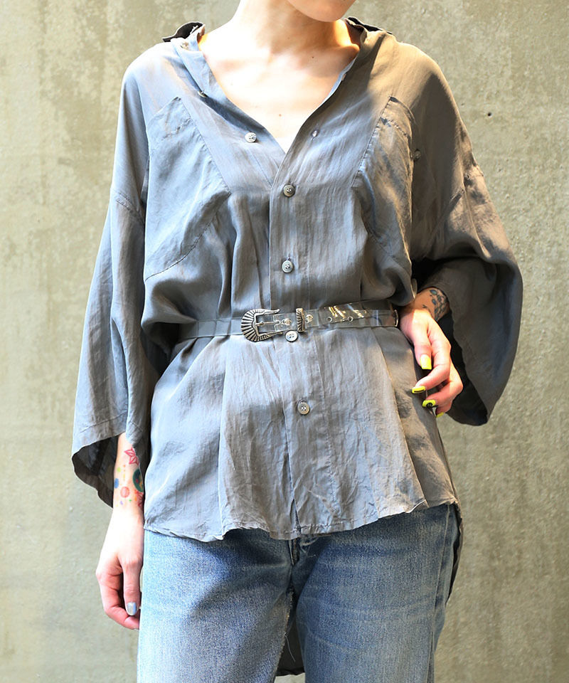 [USED] SILK SHIRT (GRAY1)