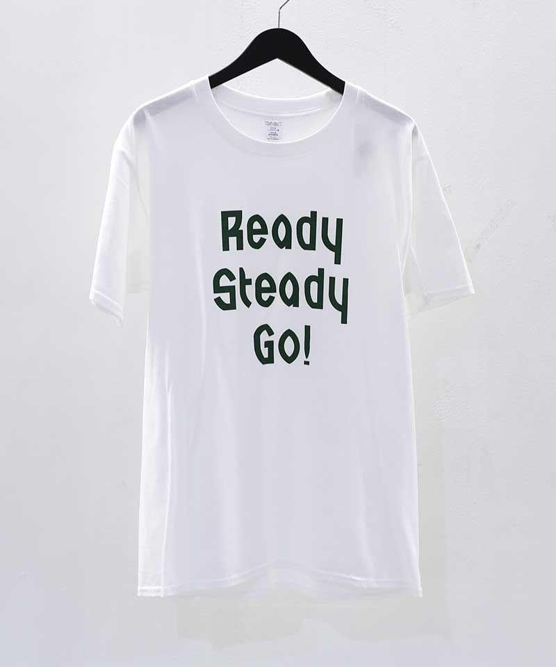 [READY STEADY GO] S/S T-SHIRT (WHITE/GREEN)