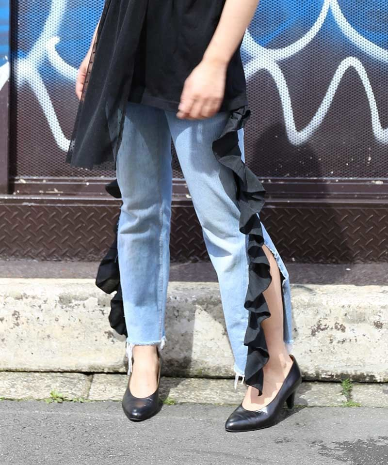 [REMAKE] PLEATED DENIM PANTS