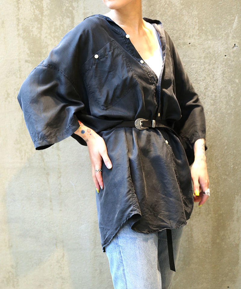 [USED] SILK SHIRT (BLACK 2)