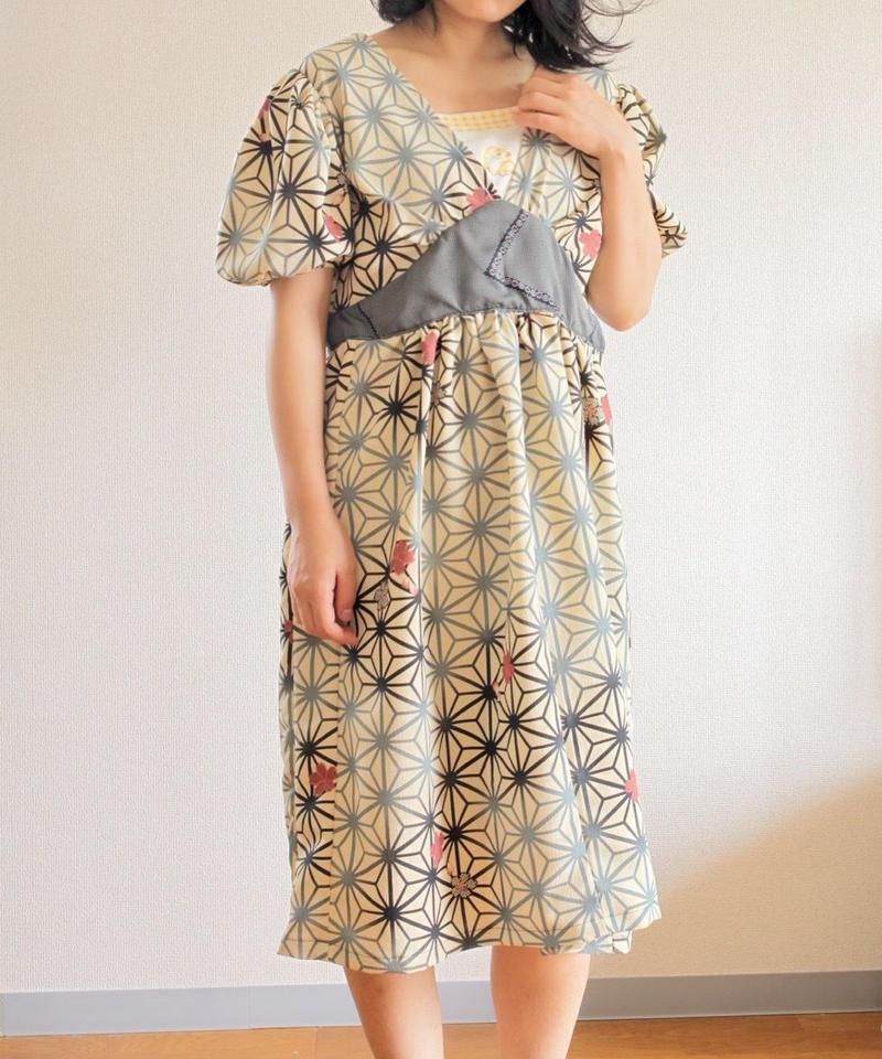 Chick & Sakura Kimono gather Dress (no.324)