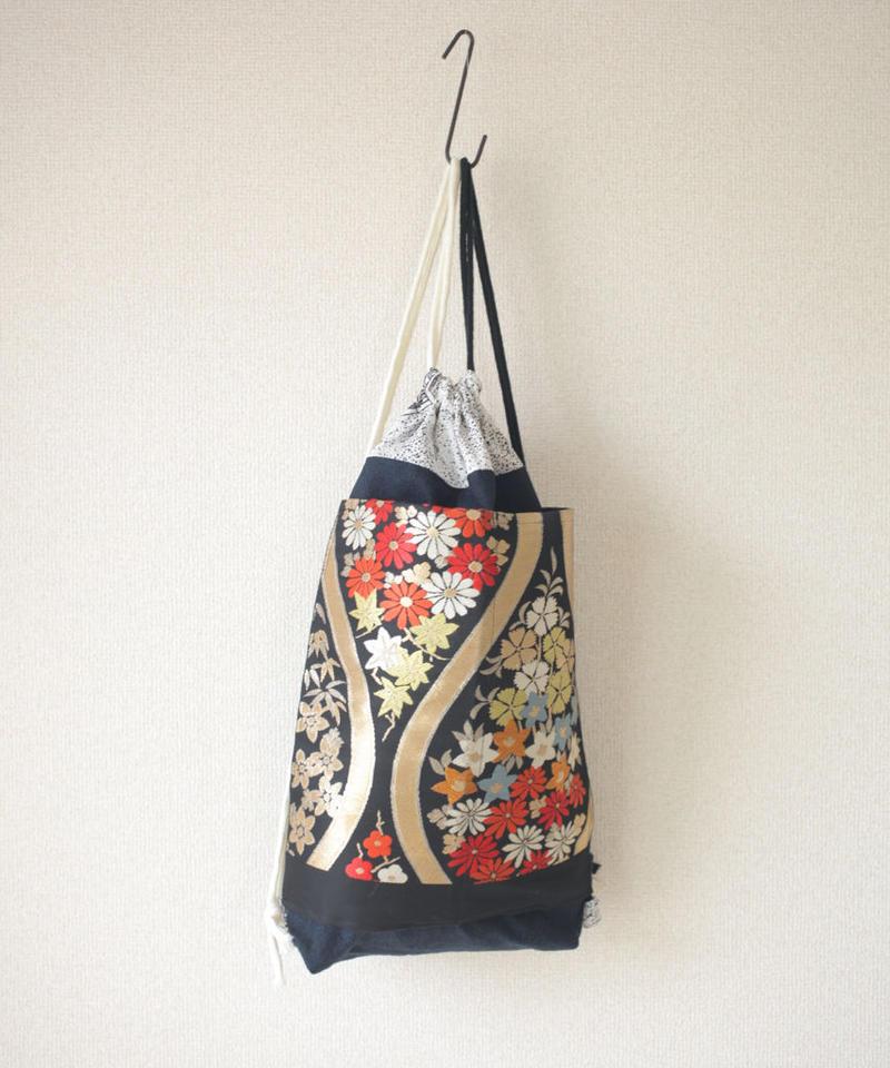 Kimono Golden Obi knapsack bag (no.060)