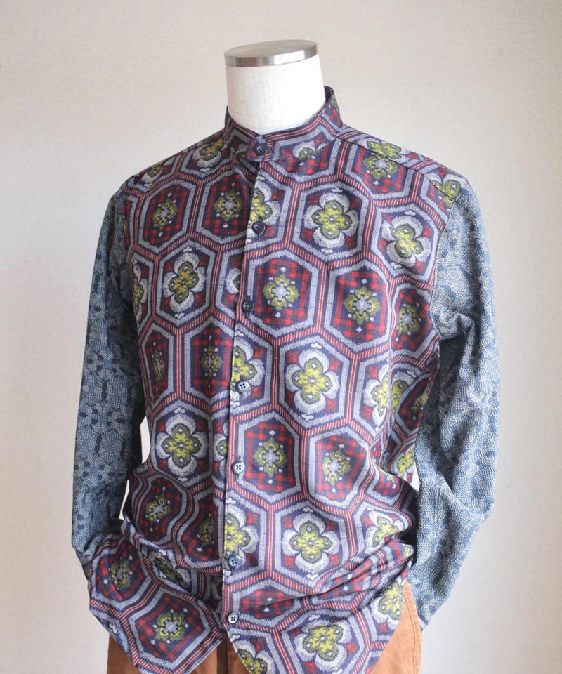 Men's Kasuri casual shirt (no.094)