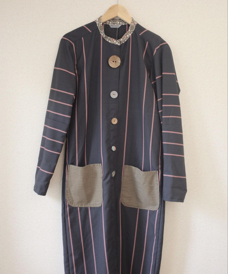 Women's stand-collar long coat (no.018)