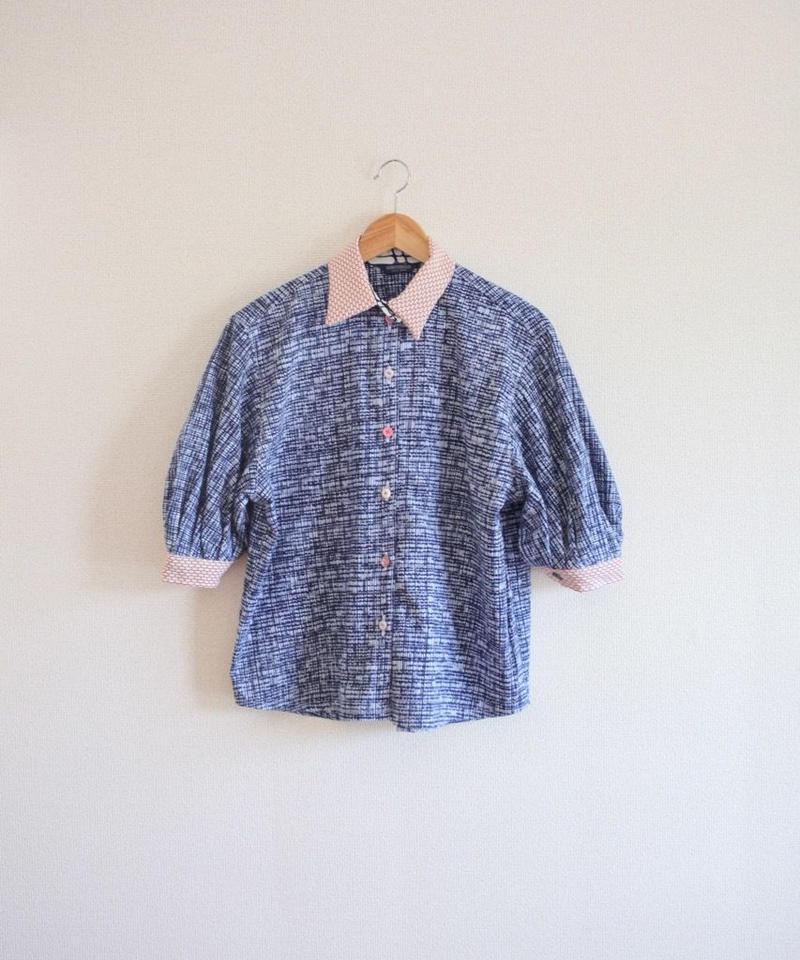Baloon sleeves summer cotton shirt ② (no.305)