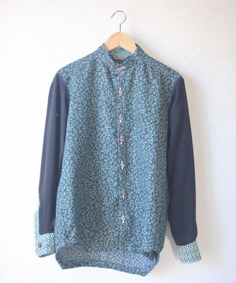 Black x dark green kimono shirt (no.104)