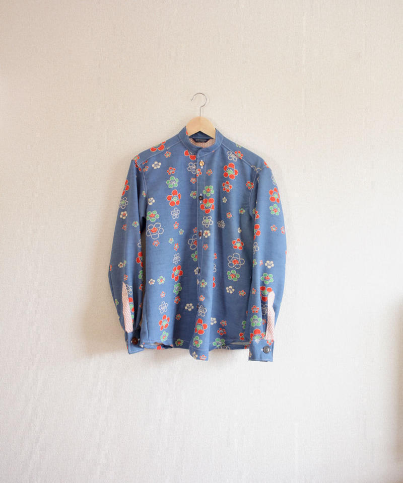Men's Retro plum pattern Kimono casual shirt (no.288)