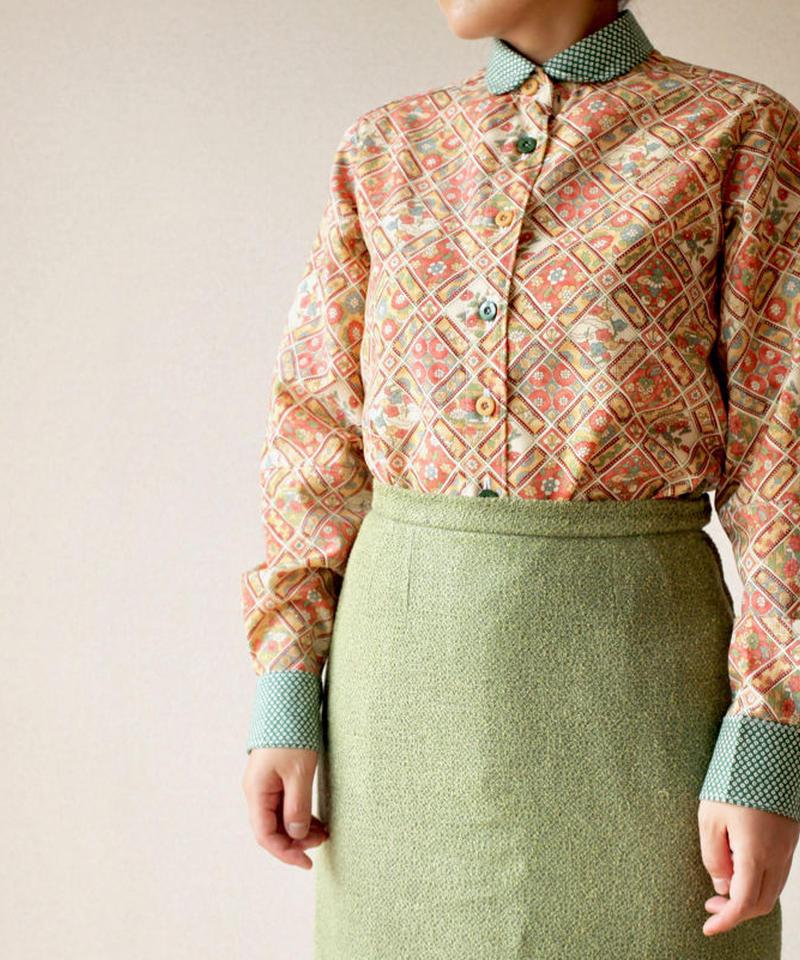Nostalgic pattern kimono shirt (no.068)