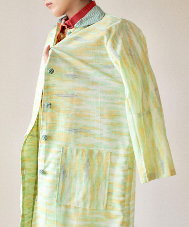 Women's light green long coat (no.017)