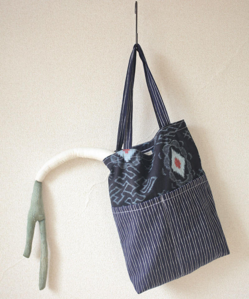 Men's Indigo blue Tote bag (no.109)