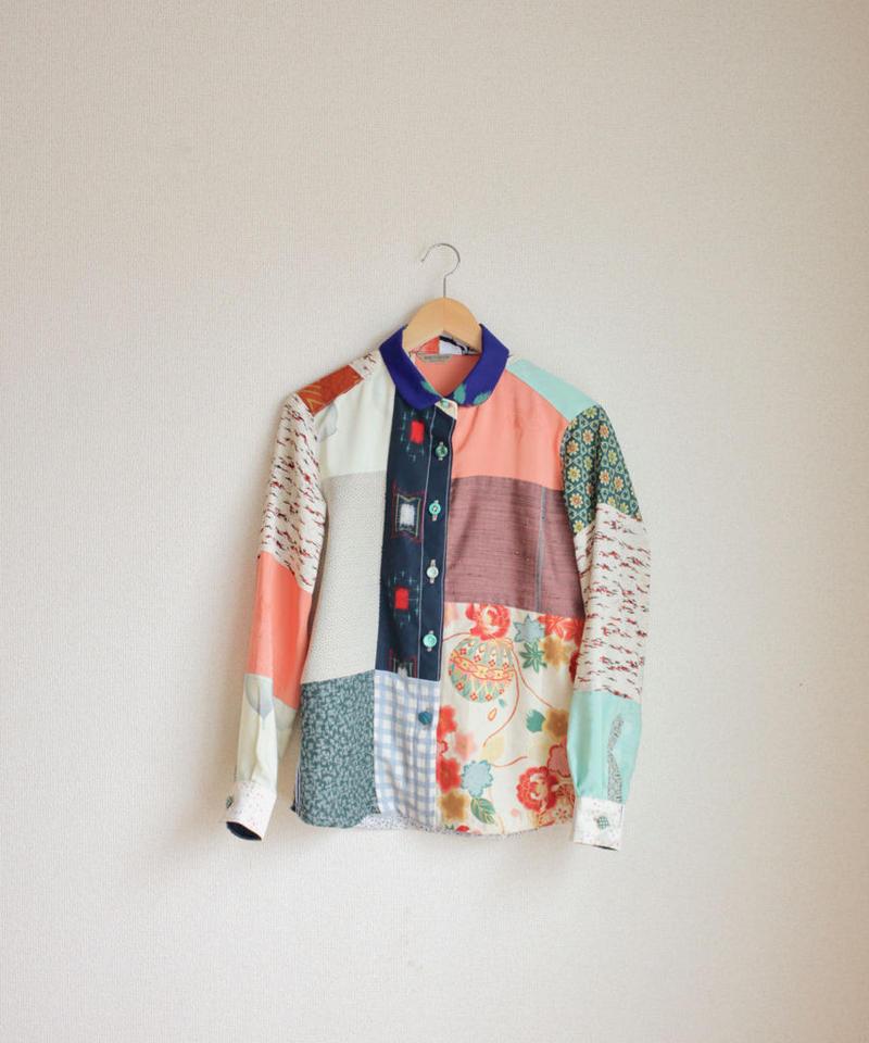 Spring color patchwork shirt (no.138)