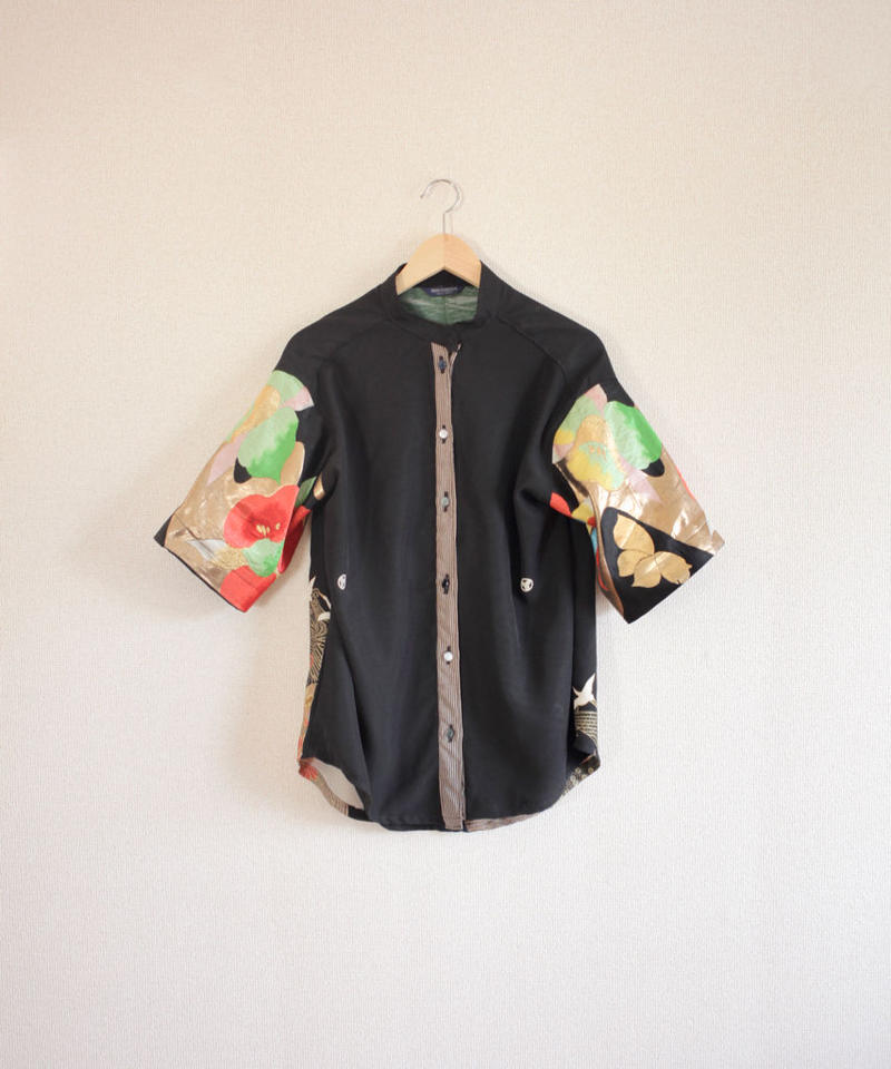 Black Kimono & Vivid camellia Shirt (no.282)