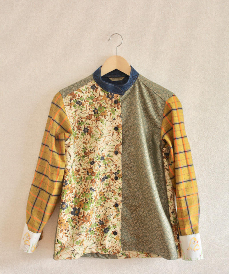 Autumn color Kimono shirt (no.225)