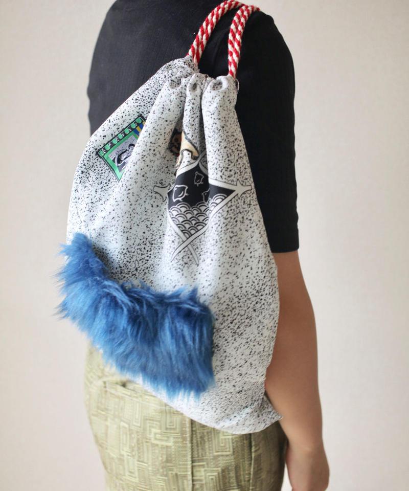 Kimono x Fur x Wappen Knapsack bag (no.054)