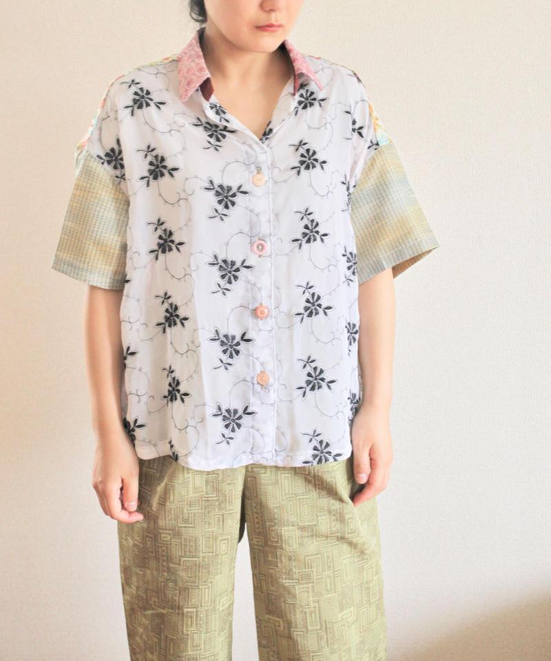 Swiss Rayon & colorful half sleeve shirt (no.166)
