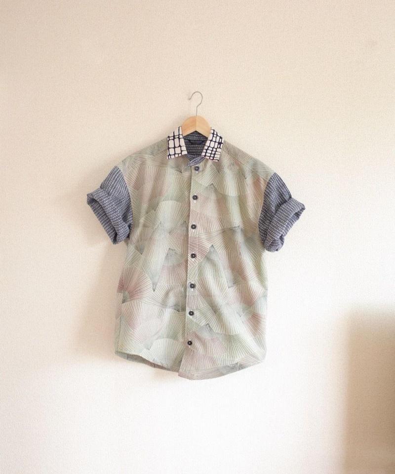 Men's fan pattern Kimono summer Shirt (no.315)
